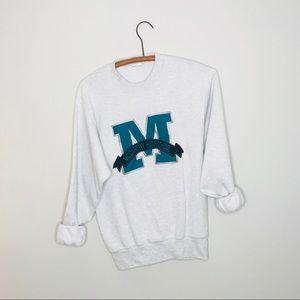 Vintage Retro 90's High School Crew Sweatshirt